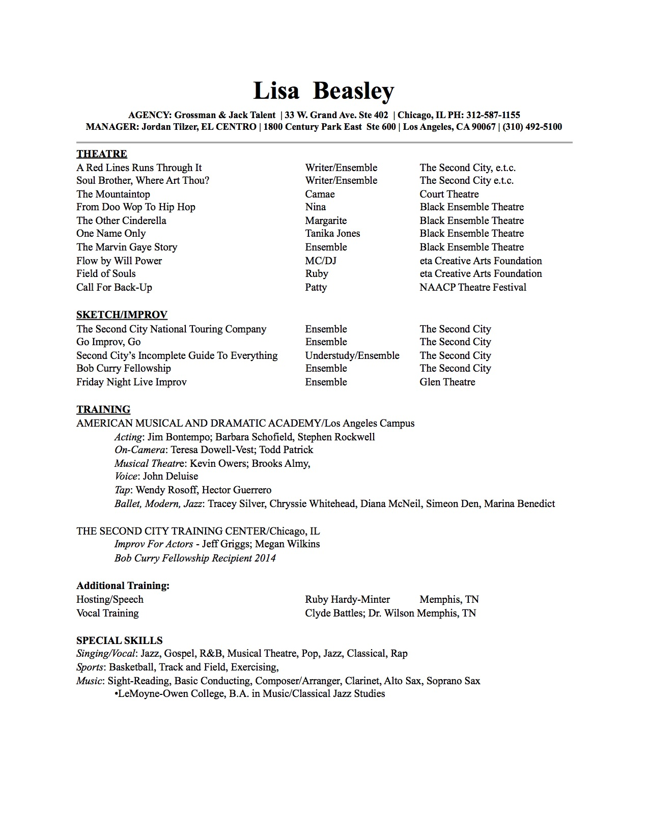 Resume Template Actor Resume No Experience Template Acting Resume  Acting Resume With No Experience