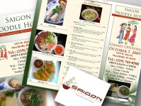 Vietnamese Restaurant Menu and Business Cards