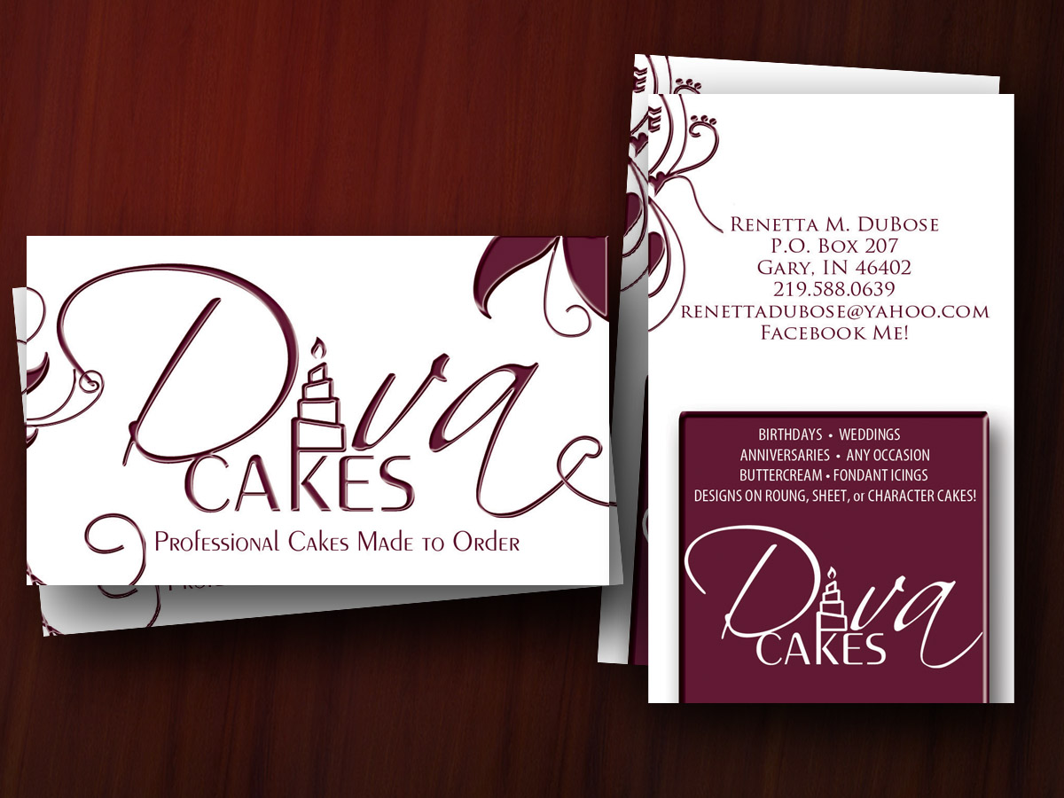 Cake decorator business cards the lisa b experience cake decorator business cards colourmoves